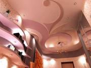 Подвесные потолки любой сложности,  перегородки,  пластик,  ламинат,