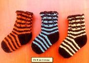 Вязаные шерстяные носки,  пинетки