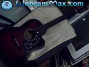 гитара акустическая с чехлом для переноски и хранения